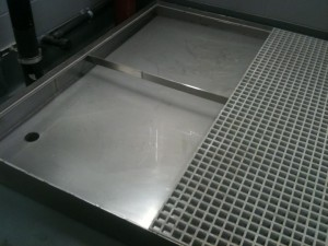 ss washdown tray seam welded